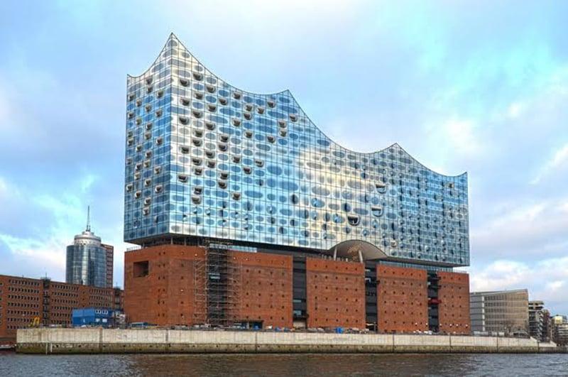 Edifício da Filarmônica do Elba em Hamburgo