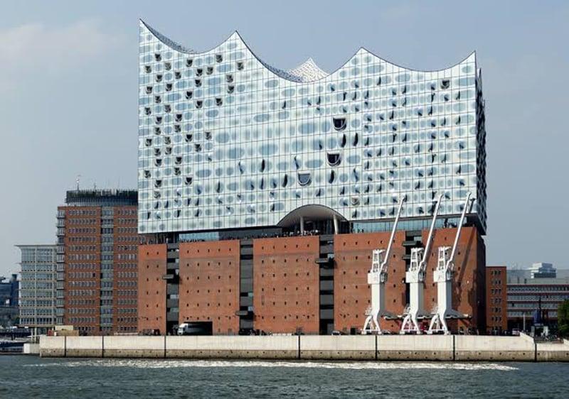 Entrada da Filarmônica do Elba em Hamburgo
