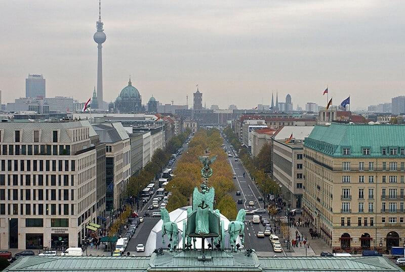 Avenida mais famosa de Berlim