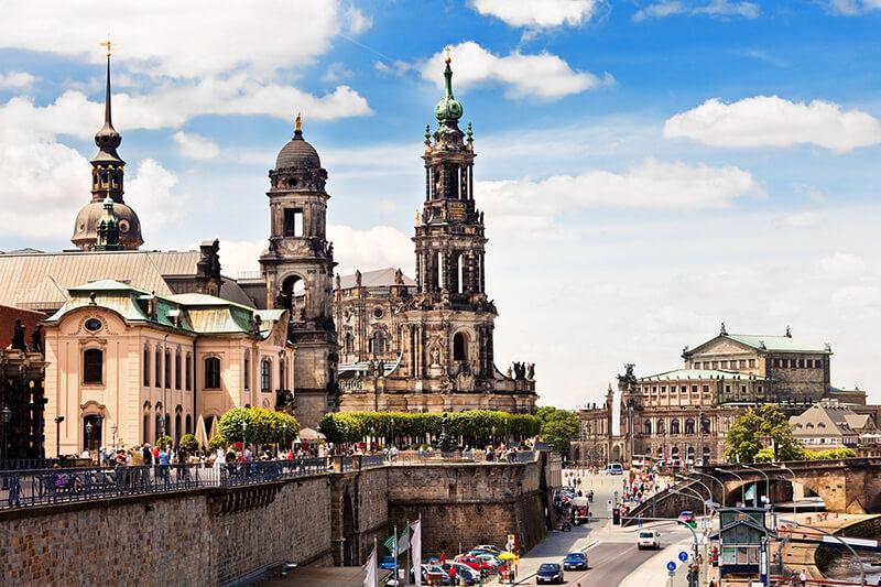 Castelo de Dresden na Alemanha