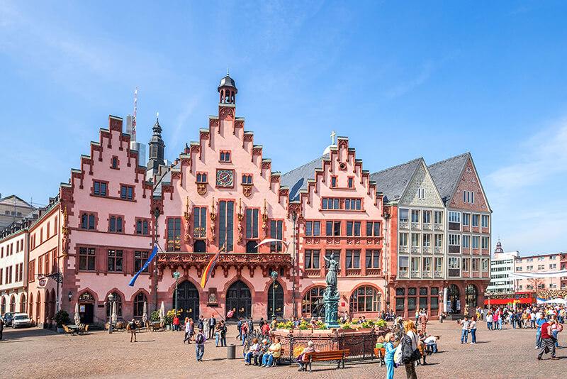 Cidade de Frankfurt na Alemanha