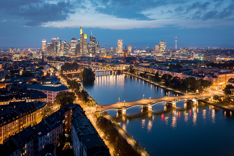 Como transferir dinheiro para Frankfurt