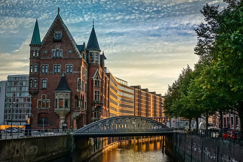 Paisagens incríveis de Hamburgo na Alemanha