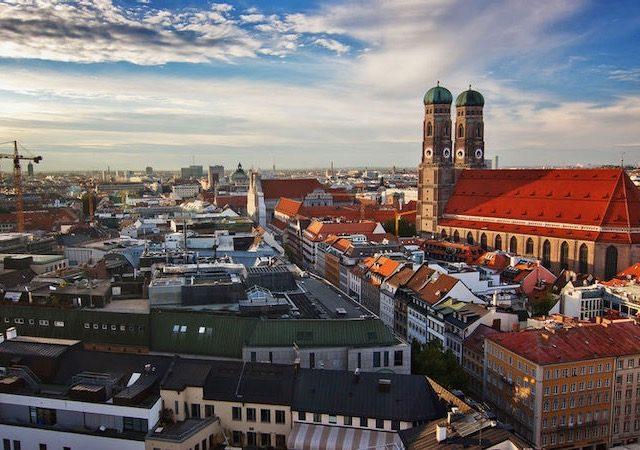 Vista da Marienplatz em Munique