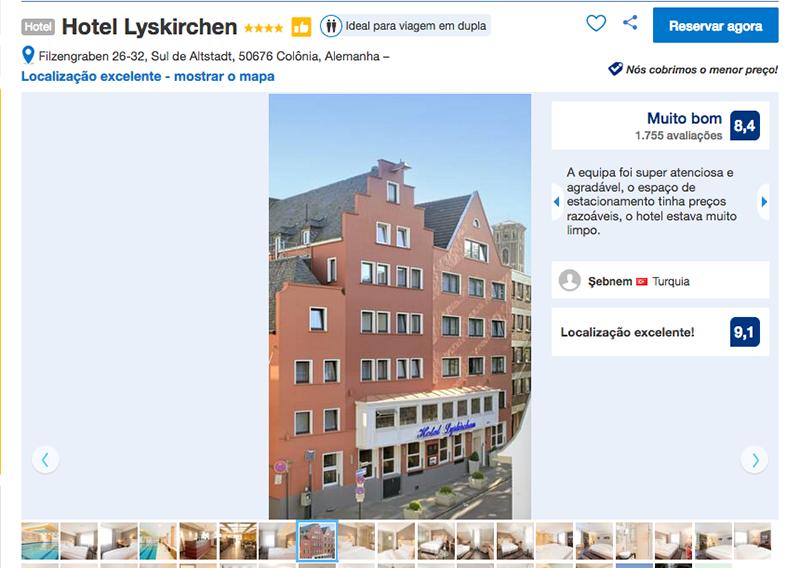 Fachada Hotel Lyskirchen em Colônia