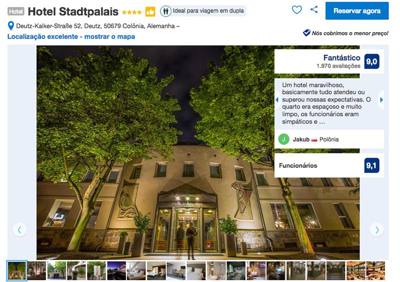 Fachada Hotel Stadtpalais em Colônia