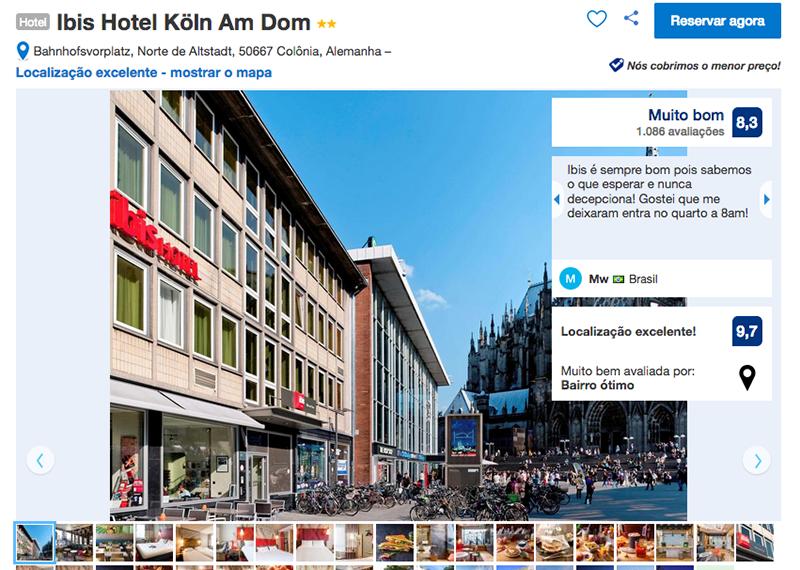 Fachada Hotel Ibis em Colônia