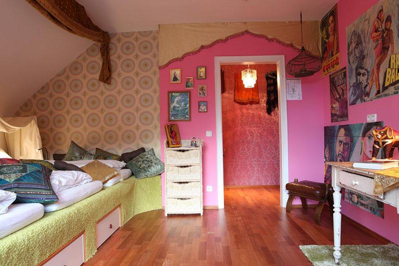 Quartos decorados do Hostel die Wohngemeinschaft em Colônia