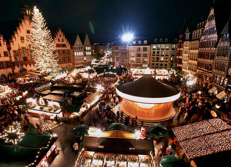 Mercado de Natal em Frankfurt