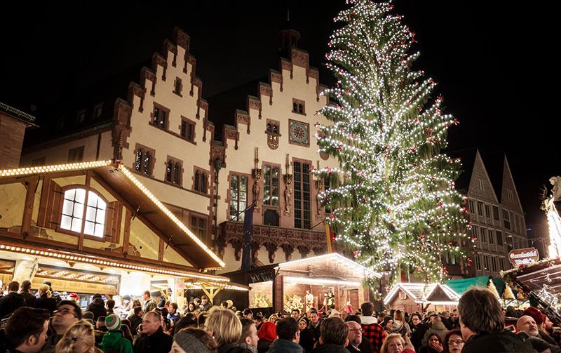 Estrutura do Mercado de Natal em Frankfurt