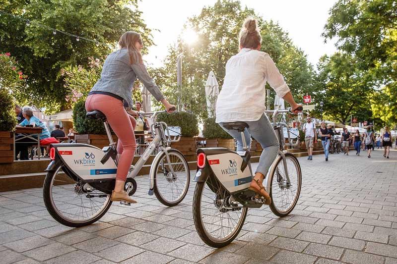 Bicicletas em Frankfurt