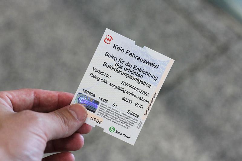 Bilhete do Metrô em Frankfurt
