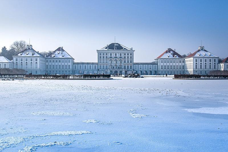 Palácios de Munique em Janeiro