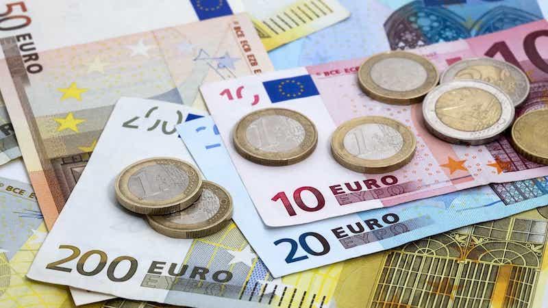 Notas e moedas de euro na Alemanha