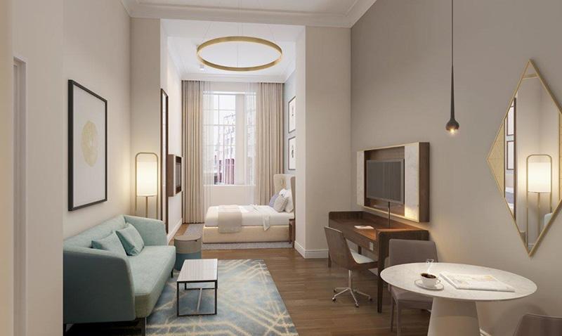 Suíte do Hotel Fraser Suites Hamburg
