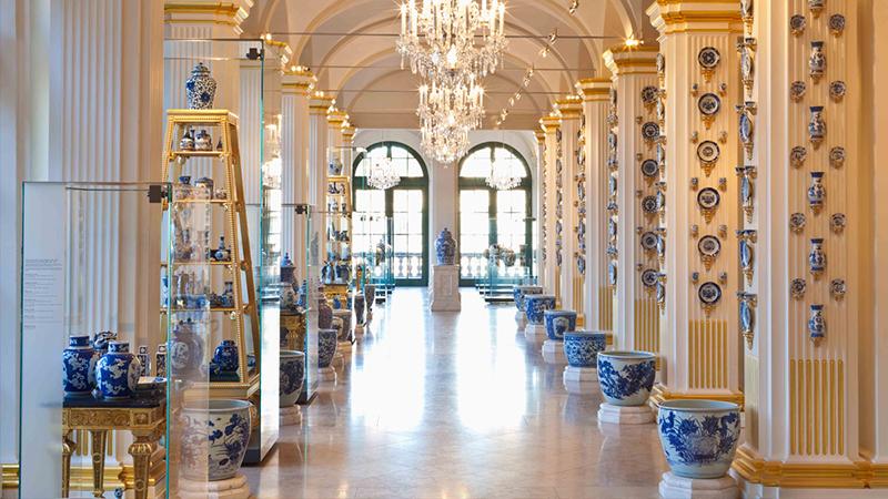 Interior do Complexo de arte Japanese Palace em Dresden