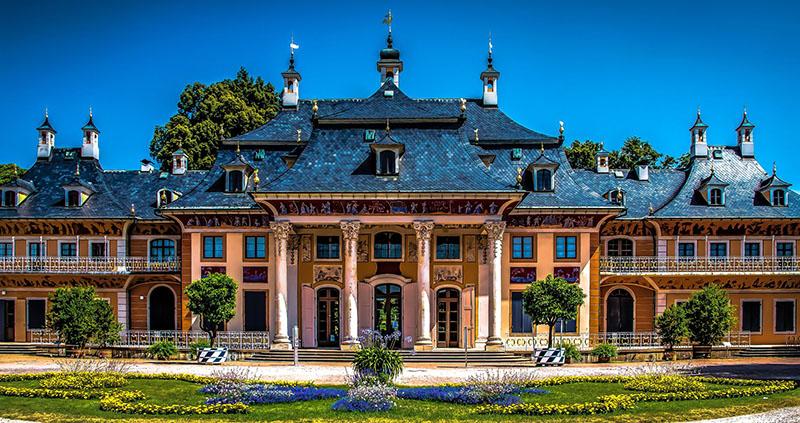 Fachada do Museu Pillnitz Castle em Dresden