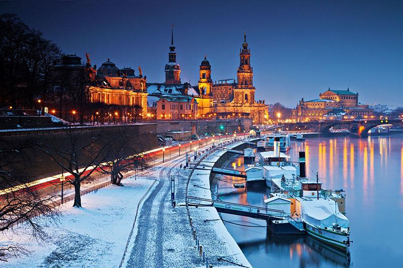 Inverno em Dresden