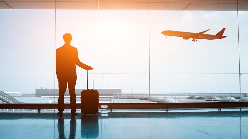 Passageiro no aeroporto