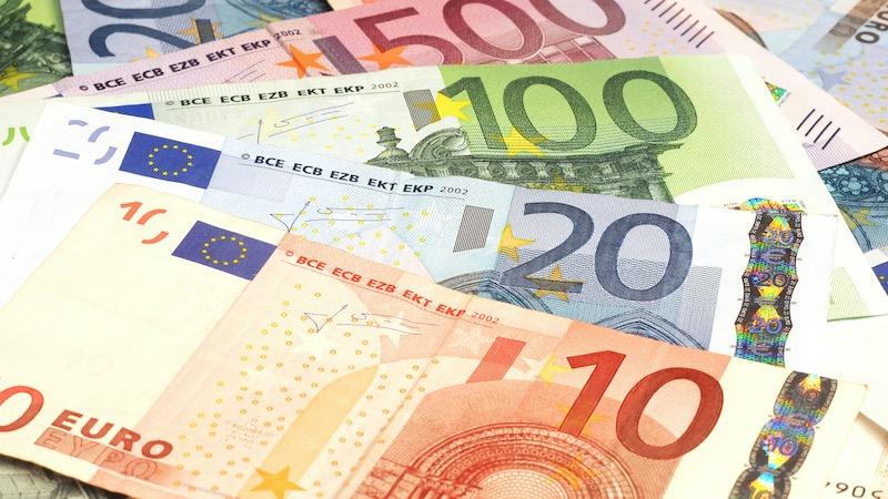 Notas de euro em Munique